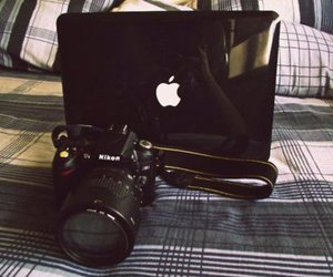 apple, nikon, and camera image