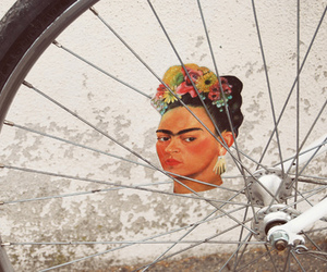 frida kahlo and bicycle image