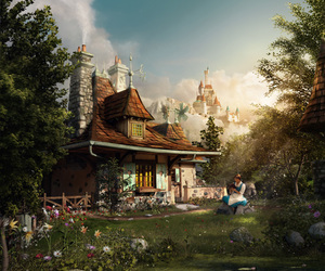 beauty and the beast, disney, and fantasyland image