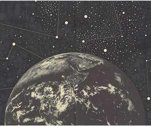 earth, stars, and space image