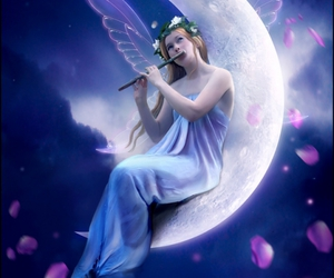 crescent, delicate, and innocence image
