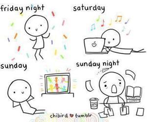Sunday, friday, and saturday image