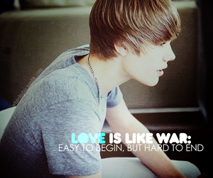 justin bieber and love image