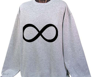 infinity, sweater, and lemniscate image