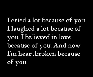 love, cry, and heartbroken image