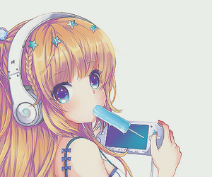 anime, girl, and video games image