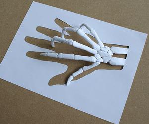 art, hand, and white image
