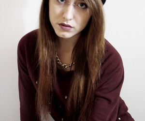 beanie, beautiful, and brown image