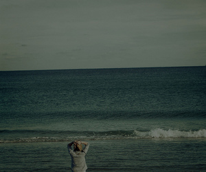 girl, photography, and ocean image