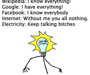funny, electricity, and lol image