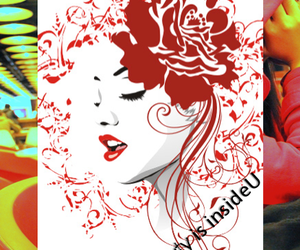 beauty, red, and fashion image
