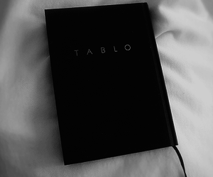 black and white, book, and tablo image