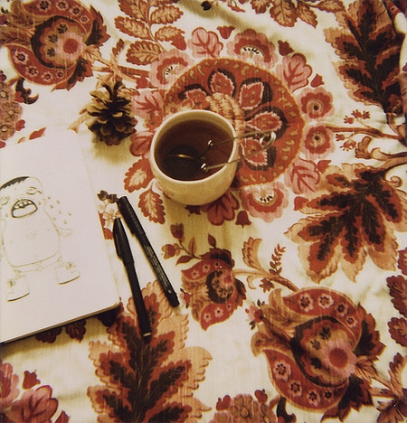 floral, flowers, and tea image