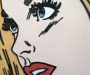 girl, pop art, and blonde image