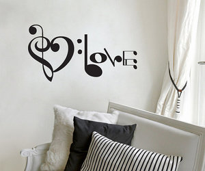 love, music, and art image