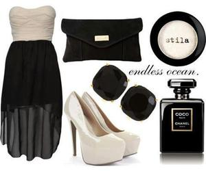 black, coco chanel, and dress image
