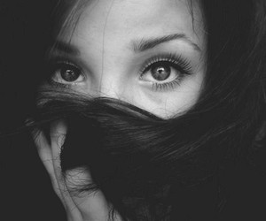 eyes, beautiful, and black and white image
