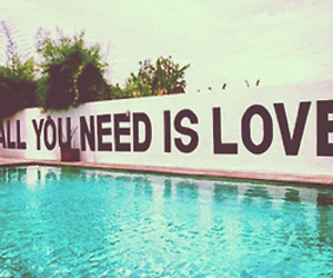 quotes, pool, and love image