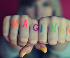imagine, colors, and hands image