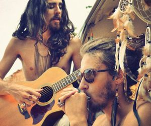 hippie, guitar, and boy image