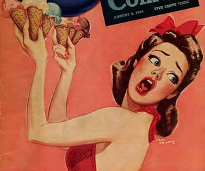 vintage, ice cream, and Pin Up image