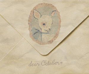 Letter, october, and dear image