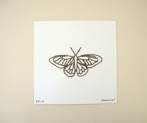 butterfly, design, and fabric image