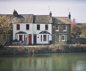 house and river image