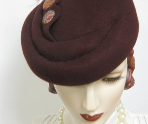 burgundy, etsy, and wool hat image