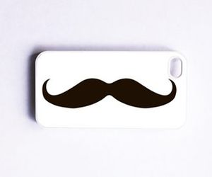 iphone, case, and mustache image