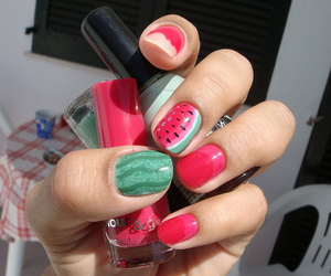 watermelon, cute, and nails image