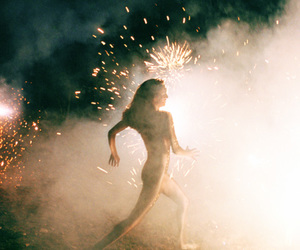 fireworks, girl, and fun image