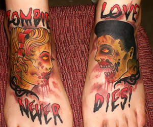 zombie, love, and tattoo image