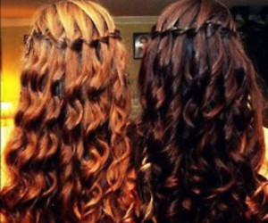 brunette, teens, and curly image