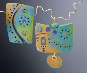 art jewelry, jewelry, and yellow house designs image