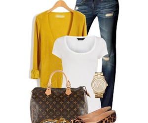 fashion, outfit, and cardigan image