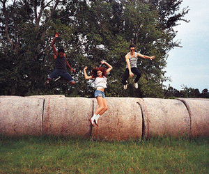 girl, jump, and friends image