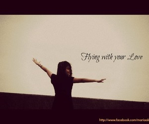 black&white, love, and fly image