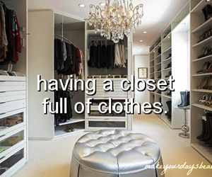 girl, beautiful, and closet image