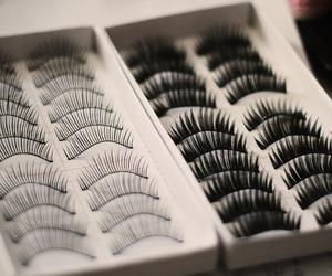 eyelashes and makeup image