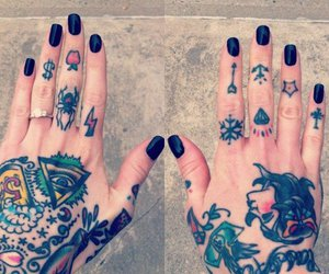 tattoo, hands, and nails image