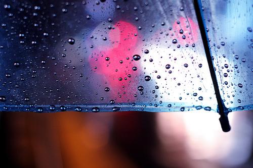 rain, umbrella, and water image
