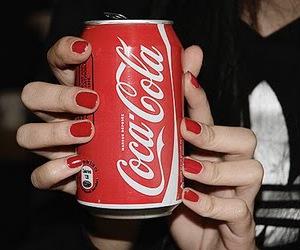 coca cola, coke, and red image