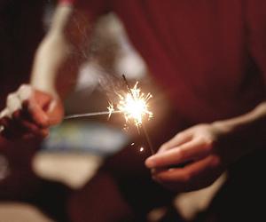 boy, firework, and guy image