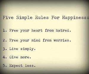 happiness, rules, and life image