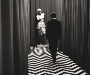 Twin Peaks, agent cooper, and black and white image