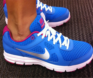 nike, blue, and shoes image