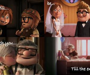 text, carl and ellie, and pixar couples image