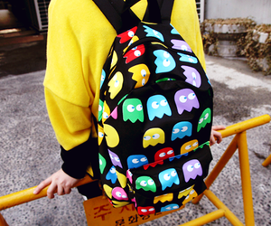 pacman, backpack, and bag image