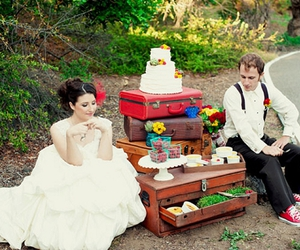 suitcase and wedding image